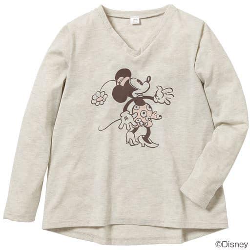VネックゆるTシャツ(ディズニー)