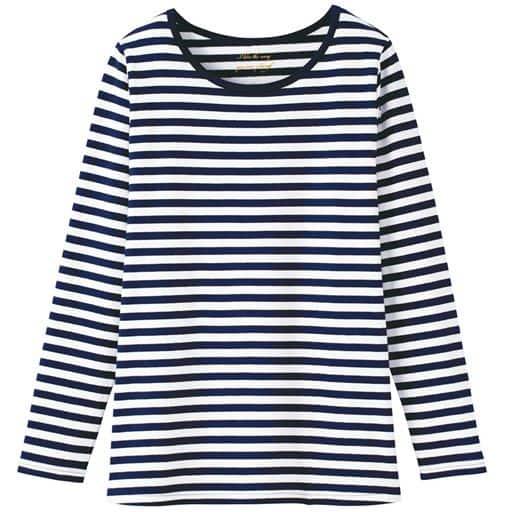 【大きいサイズ プランプ】端正さで差をつけるシンプルクルーネックTシャツです。
