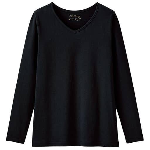 【大きいサイズ プランプ】すっきり着こなせるシンプルVネックTシャツ