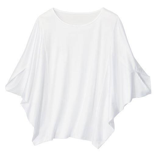 60%OFF【レディース大きいサイズ】 変形ドルマンプルオーバー - セシール ■カラー:オフホワイト ■サイズ:L-LL,3L-4L,5L-6L