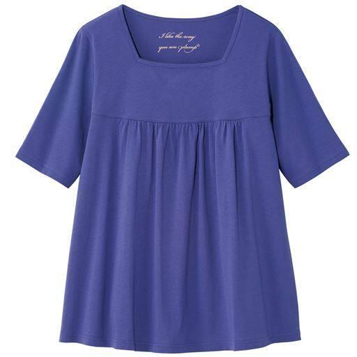 【ぽっちゃりさんサイズ】汗ジミ防止ギャザーTシャツ