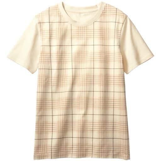 30%OFF【レディース】 プリントTシャツ(綿100%・S-7L・洗濯機OK) ■カラー:アイボリホワイト ■サイズ:6L-7L,4L-5L,S,M,L,LL,3L