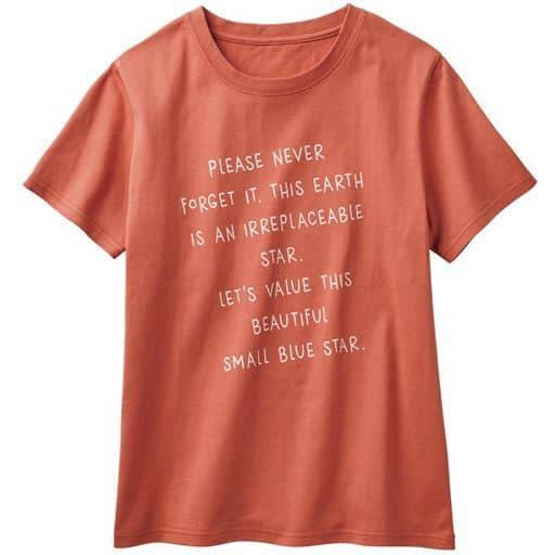40%OFF【レディース】 プリントTシャツ(綿100%・S-5L) ■カラー:ガーベラオレンジ ■サイズ:S,M,L,LL,3L,4L-5L