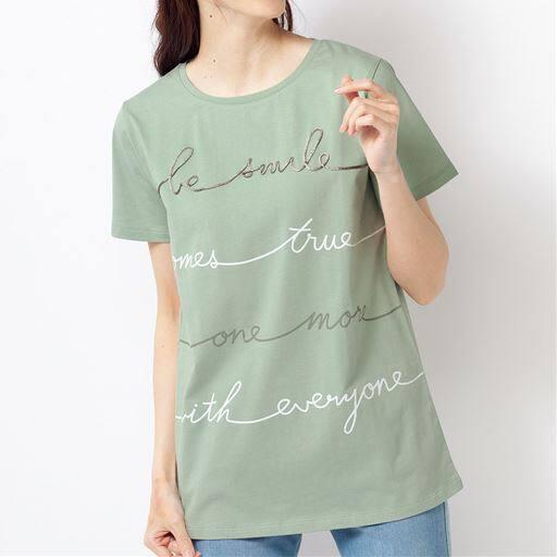 コード刺しゅうTシャツ(綿100%)