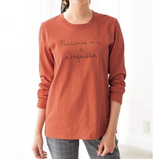 【レディース】 プリントTシャツ(綿100%・洗濯機OK) ■カラー:ガーベラオレンジ ■サイズ:S,M,L,LL,3L