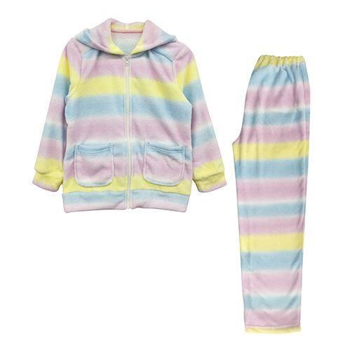 【ティーンズ】 ジップパーカースーツ(女児用) ■カラー:レインボー ■サイズ:120,140