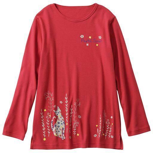 Tシャツ(セミロング丈・綿100%)