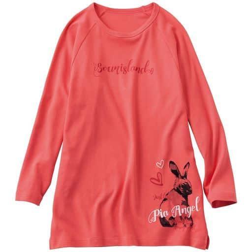 ゆったりプリントTシャツ(綿100%・チュニック丈)