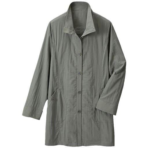 【レディース】 季節の変わり目に重宝するジャケット ■カラー:カーキ ■サイズ:L,3L,M