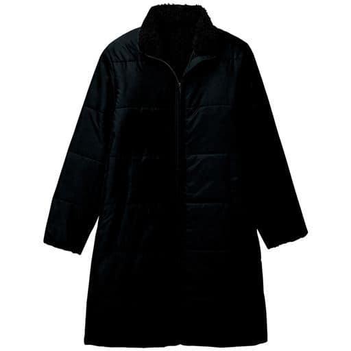 寒いところにボア使いコート