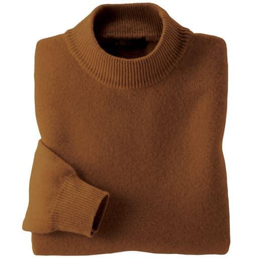 【レディース】 ウール100%洗えるセーター ■カラー:キャメル ■サイズ:LL,M,L