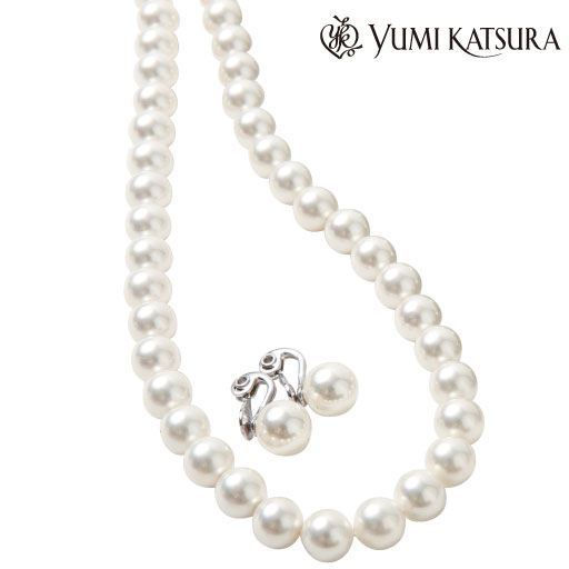 YUMI KATSURAシェルパール9ミリセット(2点セット) ■カラー:ホワイト ■サイズ:A(イヤリングセット)