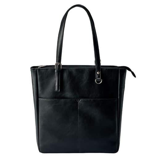 【レディース】 タテ型トートバッグ(A4対応) - セシール ■カラー:ブラック
