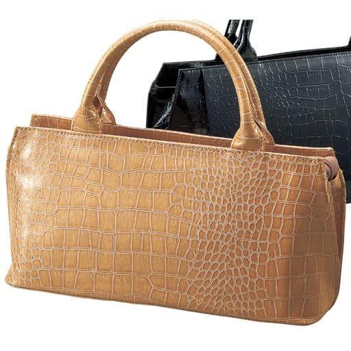 60%OFFクロコ型押しハンドバッグ(フォーマル・卒業式・入学式) - セシール ■カラー:グレージュ