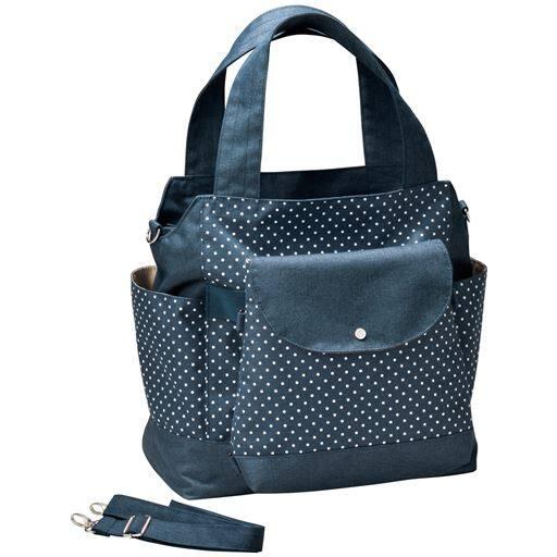 30%OFF【レディース】 親子で使えるバッグ ■カラー:ネイビー/水玉