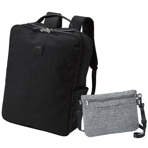 【レディース】 サコッシュバッグ付き多機能リュック(アネロ)(AT-C2241) ■カラー:ブラック