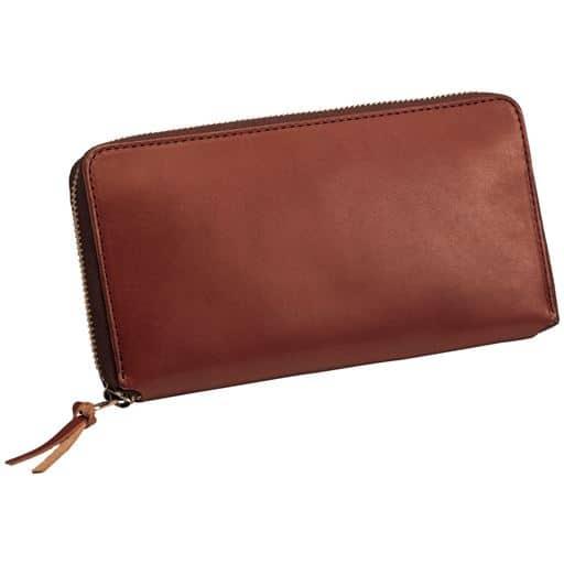 【メンズ】 風合いある革の日本製栃木レザー財布 - セシール ■カラー:ブラウンA(長財布)