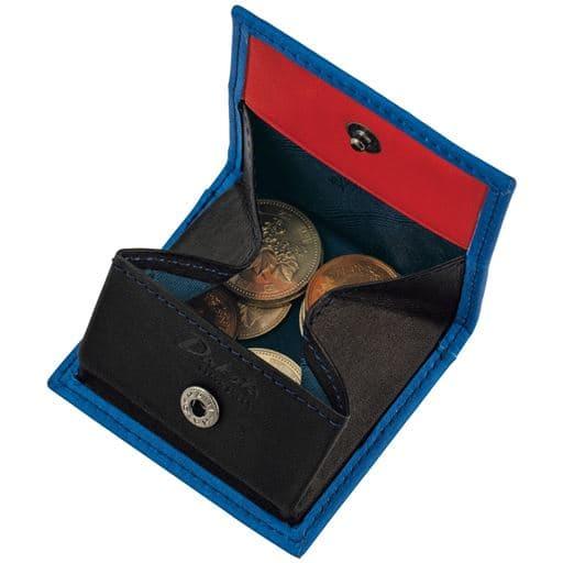 【メンズ】 イタリアンレザー財布(ダコタ) ■カラー:ブルーC(小銭入れ)