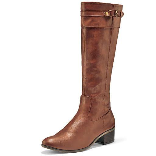 70%OFFジョッキーロングブーツ(筒周りが選べる) - セシール ■カラー:ブラウンB(アンティーク調・筒周りゆったりタイプ) ■サイズ:24cm,24.5cm,25cm,22.5cm,23cm,23.5cm
