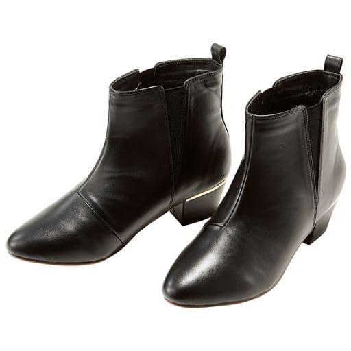 【レディース大きいサイズ】 サイドゴアショートブーツ(4E) ■カラー:ブラック ■サイズ:L(24-24.5cm),LL(25-25.5cm),3L(26-26.5cm),M(23-23.5cm)