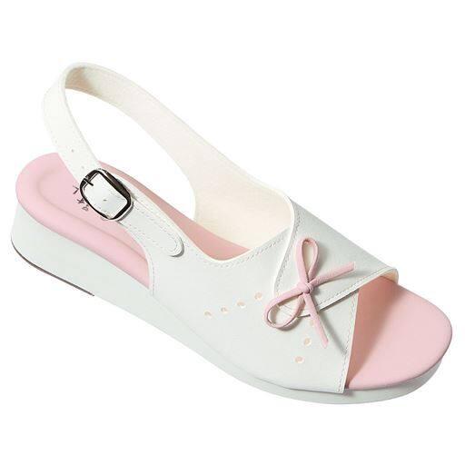 【レディース】 O脚修正リボンサンダル(ナースサンダル) ■カラー:ピンク ■サイズ:L(23.5-24cm),LL(24.5-25cm)