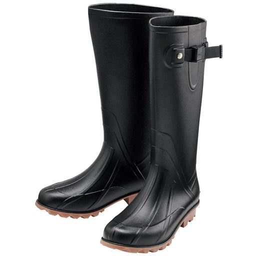 40%OFF【レディース】 kiuロングレインブーツ(収納袋付き) - セシール ■カラー:ブラック ■サイズ:S(23-24cm),M(24-25cm)