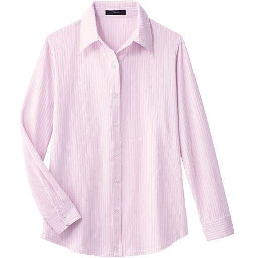 40%OFF【レディース】 カットソーシャツ - セシール ■カラー:ピンクベージュ ■サイズ:L,LL,M,S