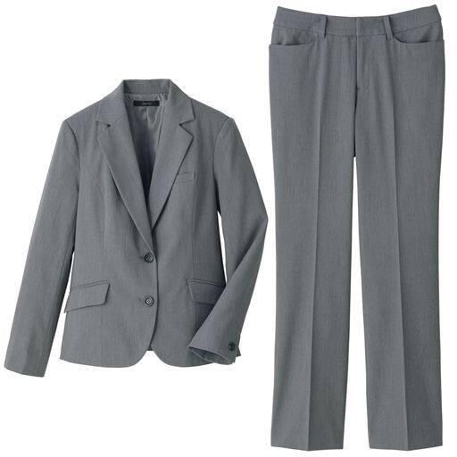 40%OFF【レディース】 パンツスーツ - セシール ■カラー:ライトグレー ■サイズ:7号,13号,9号,11号,15号,5号(プチサイズ)
