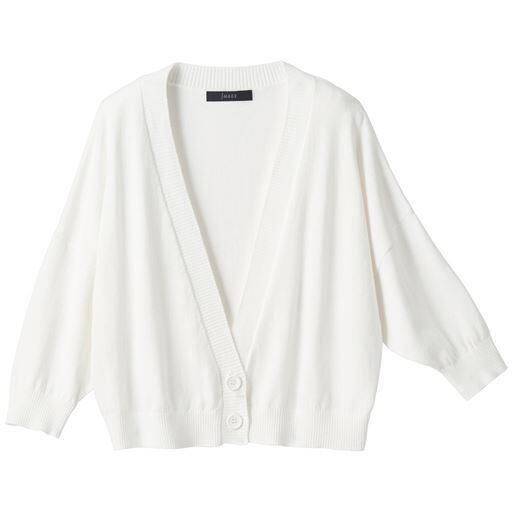 50%OFF【レディース】 洗えるUVボレロカーディガン - セシール ■カラー:オフホワイト ■サイズ:M,L