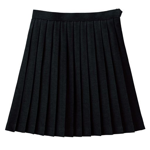裏地・アジャスター付き 日本製単色プリーツスカート(スクール・制服)