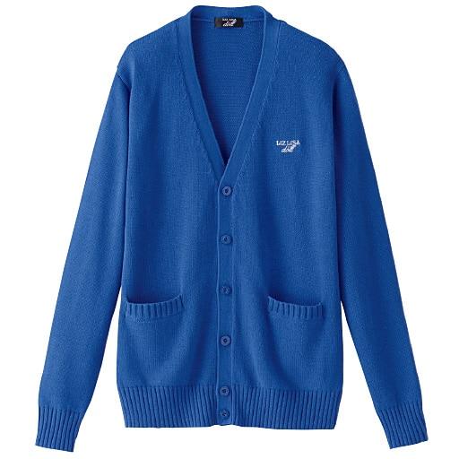 10%OFF【ティーンズ】 LIZ LISA doll 綿100%Vネックニットカーディガン(スクール・制服) - セシール ■カラー:ブルー ■サイズ:L,M,S