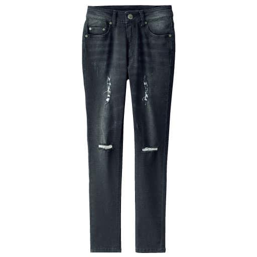 50%OFF【ティーンズ】 ダメージジーンズ - セシール ■カラー:ブラック ■サイズ:58,55