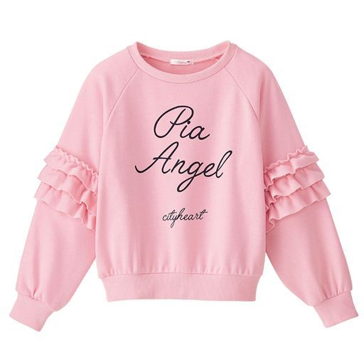 69%OFF袖フリルプルオーバー - セシール ■カラー:ピンク ■サイズ:M