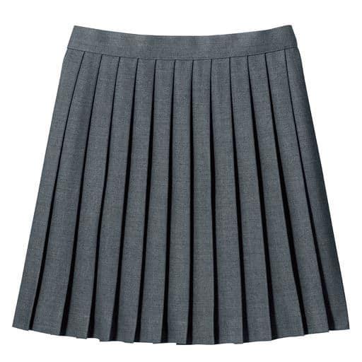 丈が選べる日本製単色プリーツスカート(スクール・制服)