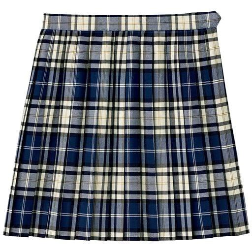 抗菌・防臭加工付き 丈が選べる日本製チェック柄プリーツスカート(スクール・制服)