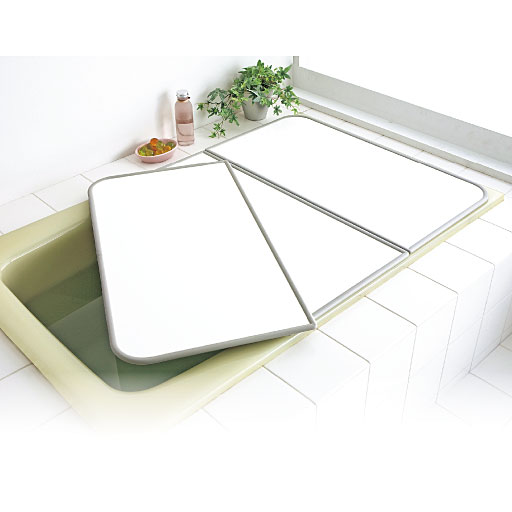 Ag+アルミ組み合わせ風呂ふた - セシール ■カラー:ホワイト ■サイズ:H(幅73×長さ158cm),D(幅68×長さ138cm),G(幅73×長さ148cm)
