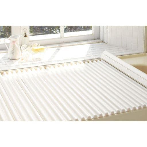 Ag+シャッター式風呂ふた - セシール ■カラー:シルバー ホワイト ■サイズ:E(幅75×長さ120cm),F(幅75×長さ140cm),G(幅75×長さ160cm)