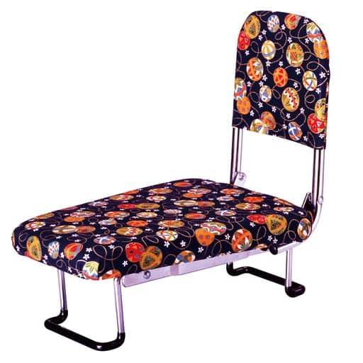 背もたれ付らく座椅子 - セシール ■カラー:手まり柄) B(小花柄