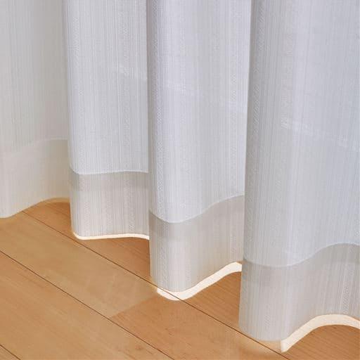 レースカーテン(抗ウイルス加工) - セシール ■カラー:ホワイト ■サイズ:幅100×丈88cm(2枚組),幅100×丈108cm(2枚組),幅100×丈118cm(2枚組),幅100×丈133cm(2枚組),幅100×丈148cm(2枚組),幅100×丈168cm(2枚組),幅100×丈176cm(2枚組),幅100×丈183cm(2枚組),幅100×丈188cm(2枚組),幅100×丈193cm(2枚組),幅100×丈218cm(2枚組),幅100×丈223cm(2枚組),幅200×丈198cm(1