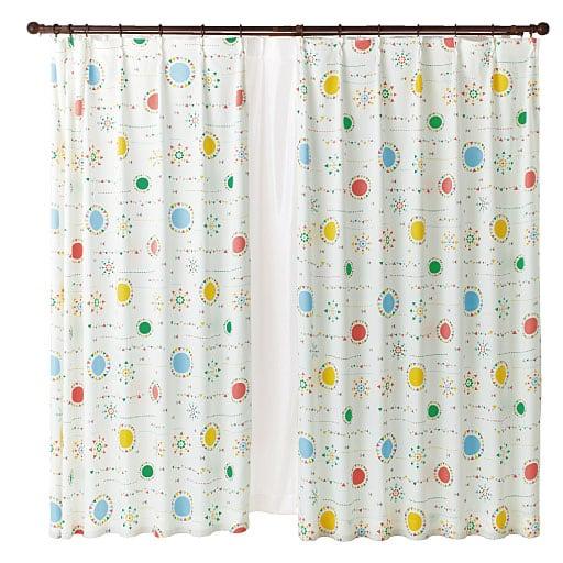 遮熱プリントカーテンと題した写真