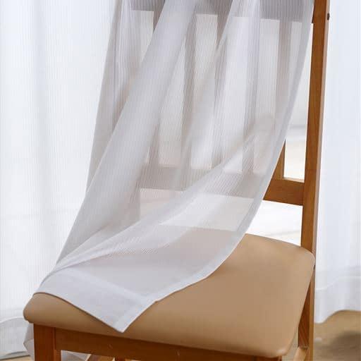 〔形状記憶付き〕花粉キャッチアレルGプラスレースカーテン ■カラー:ホワイト ■サイズ:幅100×丈88(2枚組),幅100×丈108(2枚組),幅100×丈118(2枚組),幅100×丈133(2枚組),幅100×丈148(2枚組),幅100×丈168(2枚組),幅100×丈176(2枚組),幅100×丈183(2枚組),幅100×丈188(2枚組),幅100×丈193(2枚組),幅100×丈1と題した写真