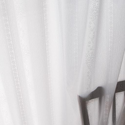 ミラーレースカーテン(バラとストライプ柄・UVカット遮熱保温・遮像) ■カラー:ホワイト ■サイズ:幅100×丈88cm(2枚組),幅100×丈108cm(2枚組),幅100×丈118cm(2枚組),幅100×丈133cm(2枚組),幅100×丈148cm(2枚組),幅100×丈168cm(2枚組),幅100×丈176cm(2枚組),幅100×丈183cm(2枚組),幅100×丈188cm(2枚組と題した写真