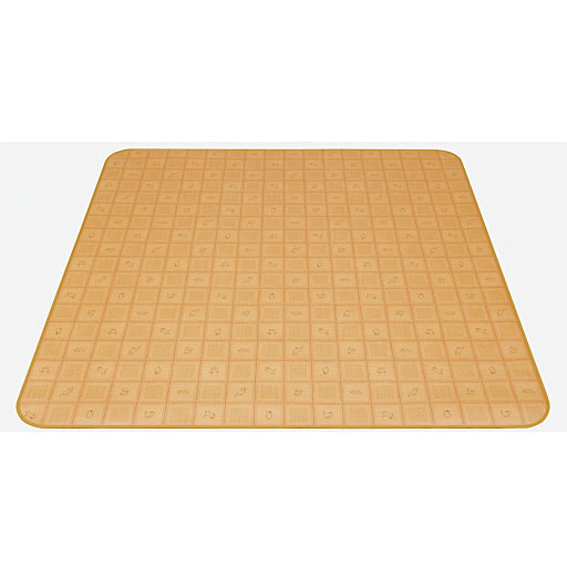 消臭抗菌ダイニングラグ (水をこぼしても拭くだけ、お手入れ簡単、床(フローリング)の傷から守る)