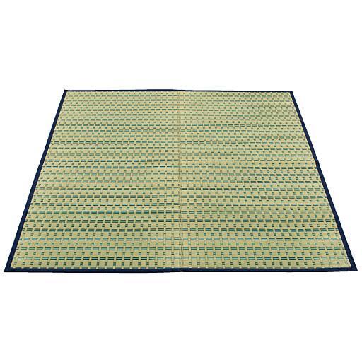 掛川織りい草カーペット(裏貼りなし) ■カラー:ブルー ■サイズ:6畳相当(352x261)と題した写真