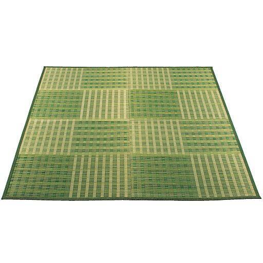 市松模様い草カーペット(裏貼りなし)と題した写真