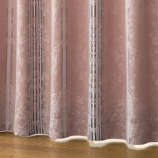 美観にこだわった形状記憶付エレガンスジャカード織り遮光カーテン - セシール ■カラー:ローズ ベージュ ターコイズブルー ■サイズ:幅100×丈95(2枚組),幅130×丈210(2枚組),幅100×丈100(2枚組),幅100×丈105(2枚組),幅100×丈115(2枚組),幅130×丈230(2枚組),幅100×丈125(2枚組),幅100×丈130(2枚組),幅100×丈140(2枚組),幅100×丈145(2枚組),幅100×丈155(2枚組),幅100×丈160(2枚組),幅150×丈135