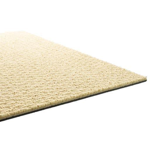 タイルカーペット(洗える・遮音・吸着 場所やスペースに組み合わせできます) - セシール ■カラー:アイボリー ■サイズ:B(同色16枚組)