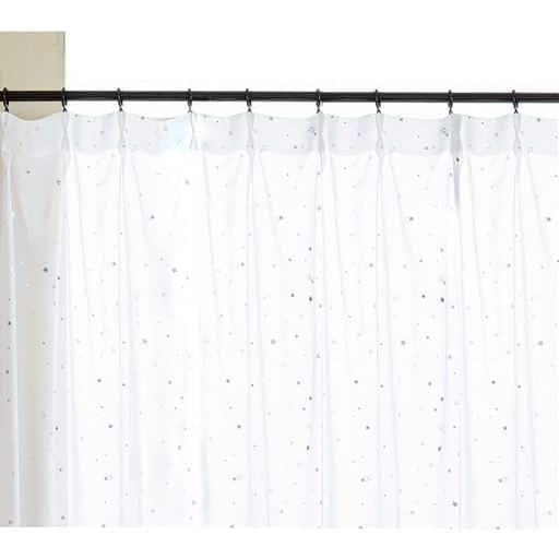 ボイルカーテン(星がキラキラ光る) - セシール ■カラー:ホワイト ■サイズ:幅100×丈88cm(2枚組),幅100×丈108cm(2枚組),幅100×丈118cm(2枚組),幅100×丈133cm(2枚組),幅100×丈148cm(2枚組),幅100×丈168cm(2枚組),幅100×丈176cm(2枚組),幅100×丈183cm(2枚組),幅100×丈188cm(2枚組),幅100×丈193cm(2枚組),幅100×丈198cm(2枚組),幅100×丈203cm(2枚組),幅100×丈208cm(