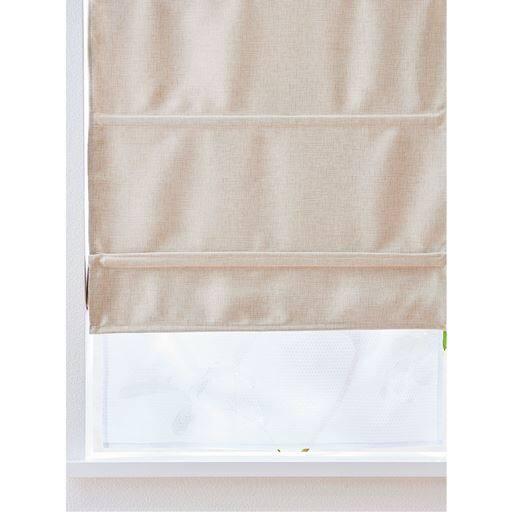 簡易マグネットシェード(ダブルタイプ・突っ張り式ポール付き) ■カラー:グリーン サーモンピンク アイボリクリーム ■サイズ:幅35×丈110cm,幅58×丈90cm,幅35×丈90cm,幅58×丈110cmの写真