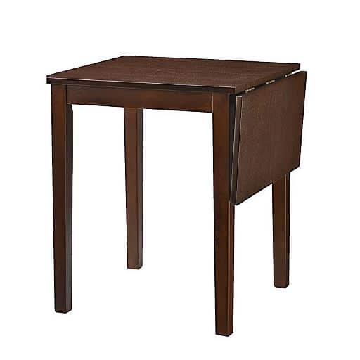 ダイニングテーブル(省スペース) ■カラー:ダークブラウン ライトブラウン ■サイズ:A(片バタテーブル),B(チェア2脚組)の写真